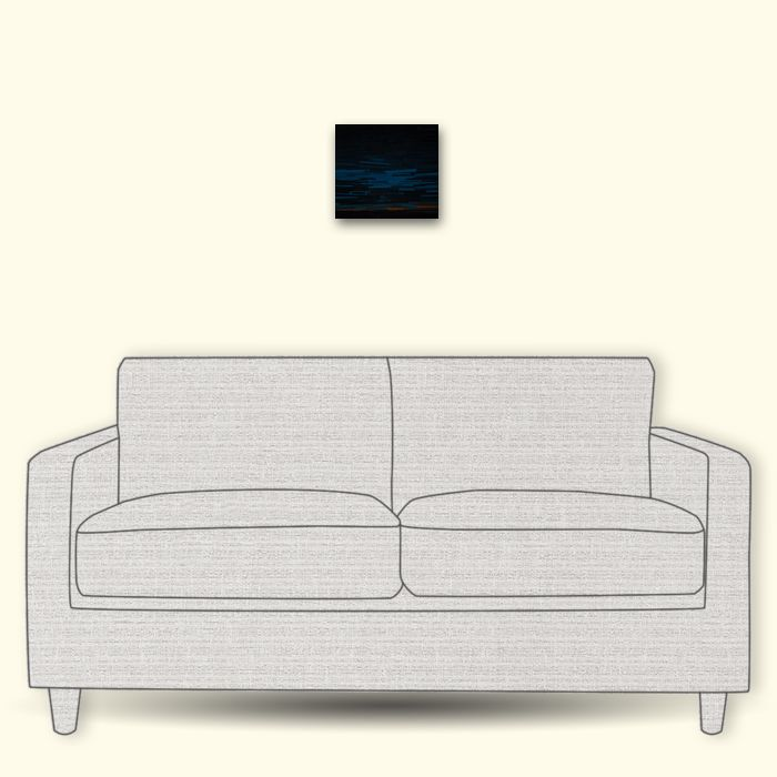 Context sizing with 2-seater sofa